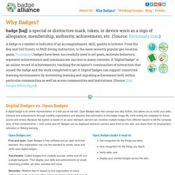 Badge Alliance » Why Badges?