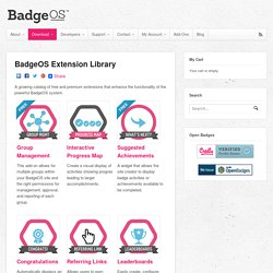 BadgeOS Extension Library
