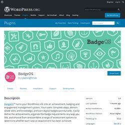 BadgeOS — WordPress Plugins