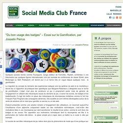 """""""Du bon usage des badges"""" - Essai sur la Gamification, par Josselin Perrus"""