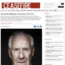 Alain Badiou: The Event