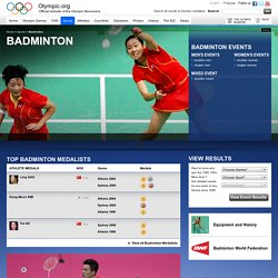 Olympic Badminton Videos Photos Results News