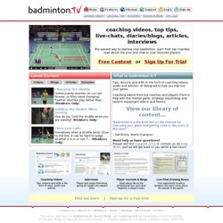 Improve your Badminton