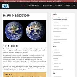 Forbrug og bæredygtighed