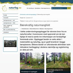 naturfag.no: Bærekraftig naturmangfold