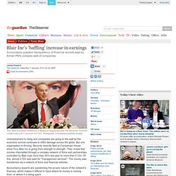 Blair Inc's 'baffling' increase in earnings | Politics | The Observer