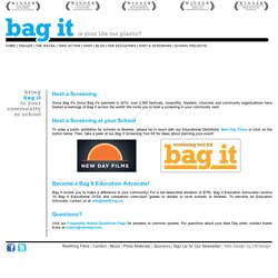 Bag It The Movie