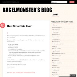 Bagelmonster's Blog