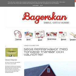 Bagerskan: Sega pepparkakor med torkade tranbär och valnötter