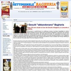 BAGHERIAINFO - Il sito ufficiale del Settimanale di Bagheria - Notizie Gesuiti