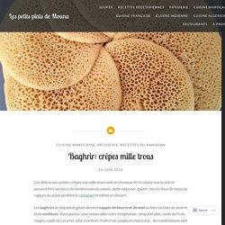 Baghrir: crêpes mille trous – Les petits plats de Mouna