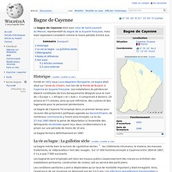 Bagne de Cayenne
