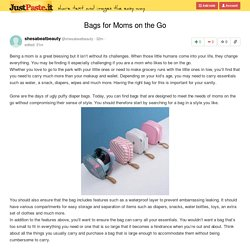 Bags for Moms on the Go