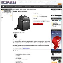 Bagster Techcity tank bag