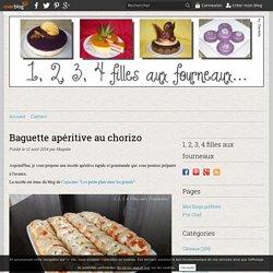 Baguette apéritive au chorizo