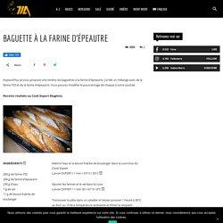 BAGUETTE À LA FARINE D'ÉPEAUTRE - Cook Expert Magimix