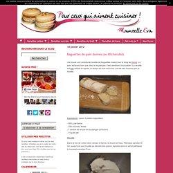 Baguettes de pain dorées (au KitchenAid)