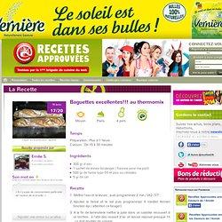 Baguettes excellentes!!! au thermomix - par Emilie S.