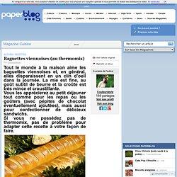 Baguettes viennoises (au thermomix)