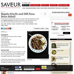 Bagula (Garlic and Dill Fava Bean Salad)