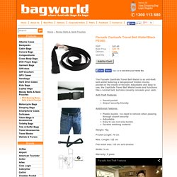Viewing Pacsafe Cashsafe Travel Belt Wallet Black PE060