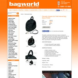 Viewing Pacsafe Lidsafe Anti Theft Helmet Bag Black PH000