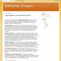 Bahamas Coupon: 5 Best Reasons to Visit the Bahamas Islands