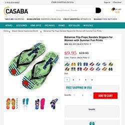 Bahamas Flip Flops Sandals Slippers for Women with Summer Fun Prints – Casaba Shop