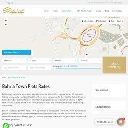 Bahria Town Plots & Land for sale in Karachi - Salaam Estate & Builders