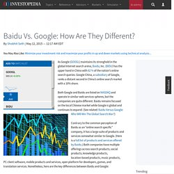 Baidu Vs. Google: How Are They Different?