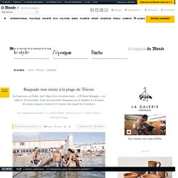 Baignade non mixte à la plage de Trieste