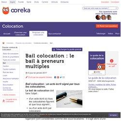 Bail d'une colocation : infos - Ooreka
