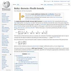 Bailey–Borwein–Plouffe formula