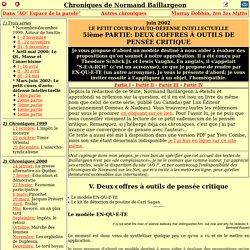 Normand Baillargeon - Petit cours d'autodéfense intellectuelle, partie 5