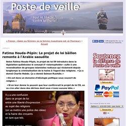 Fatima Houda-Pépin: Le projet de loi bâillon remonte à l'Arabie saoudite