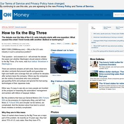 Bailout debate: How the Big 3 came apart and how to fix them - Nov. 17, 2008