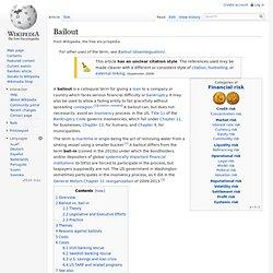 Bailout, wikipedia