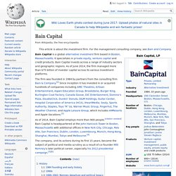 Bain Capital - Wikipedia