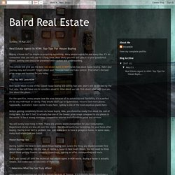 Baird Real Estate: Real Estate Agent in NSW: Top-Tips For House Buying