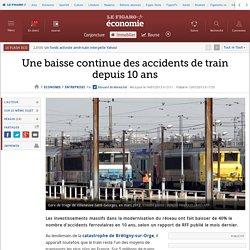 Une baisse continue des accidents de train depuis 10 ans