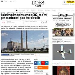 La baisse des émissions de CO2, ce n'est pas exactement pour tout de suite
