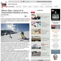 2013- 2014 : Baisse de la fréquentation hôtelière cet hiver