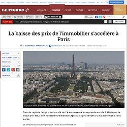 La baisse des prix de l'immobilier s'accélère à Paris