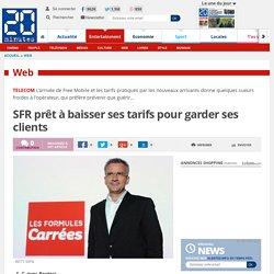 SFR prêt à baisser ses tarifs pour garder ses clients