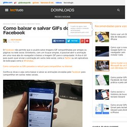 Como baixar e salvar GIFs do Facebook
