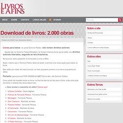 BAIXAR LIVROS GRÁTIS: download de livros - 2.000 obras