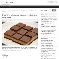 BAJADERA: Najfiniji recept bez miksera i pećnice gotov za 20 minuta