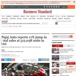 Bajaj Auto reports 11% jump in total sales at 512,038 units in Oct