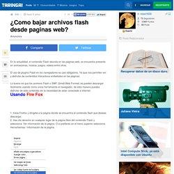 ¿Como bajar archivos flash desde paginas web? - Taringa!
