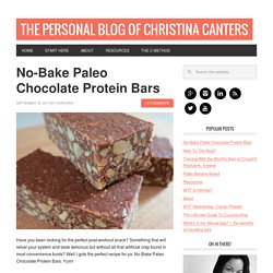 No-Bake Paleo Chocolate Protein Bars
